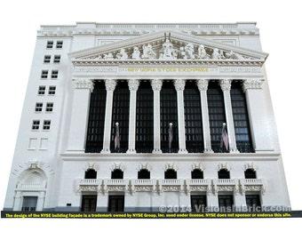 Custom LEGO New York Stock Exchange - COMPLETE SCULPTURE