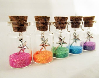 Wish Jars, Glitter Jars, Magic Wand, Wishing Jar