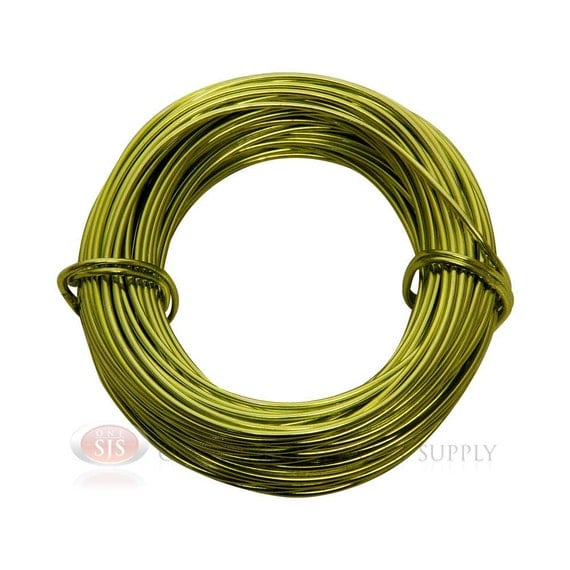 18 gauge apple green aluminum craft wire 39 feet 11 8 meters
