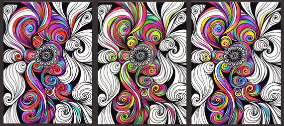 3 color pi ce art instant download abstrait psych d lique - Decoration chambre psychedelique ...