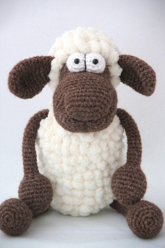 Amigurumi Yarn Eyes : Amigurumi sheep crochet safety eyes toy pompon yarn