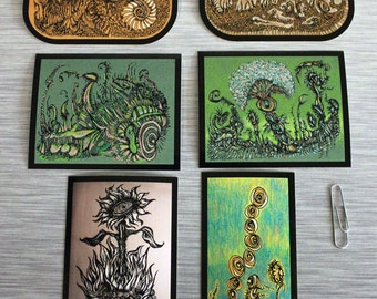 SPECIAL 6 Sticker Combo Pack Of Doodle Art Outdoor Bumper Stickers