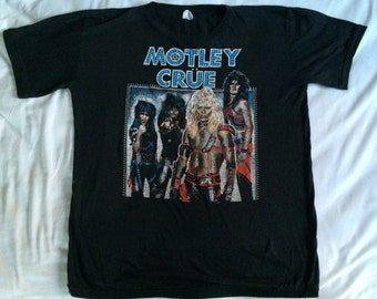 Vtg 80s L MOTLEY CRUE  Shout At The Devil Shirt