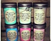 Wedding or bridal shower candle poem gift set, 1st year marrige poem set, promotion version, wedding gift, bridal shower gift