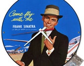 Frank Sinatra Come Fly With Me Album Cover Wall Clock
