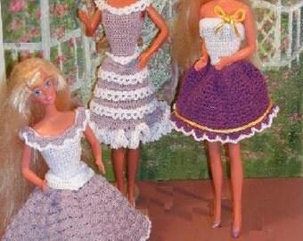 Crochet Fashion Doll Barbie Pattern- #237 LILACS & LACE 1