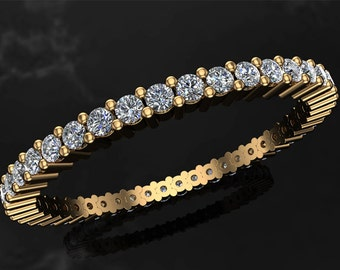 Diamond Full Eternity Ring on 18K Yellow Gold