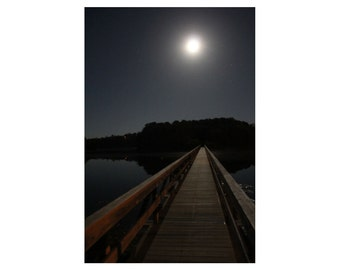 Cape Cod Wall Art - Wellfleet, Cape Cod Photograph of Uncle Tim's Bridge - Moon Bridge