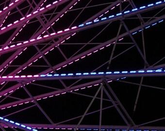 Ferris Wheel Art / Ferris Wheel Decor / Ferris Wheel Print - Carnival Wall Art - Fine Art Photograph