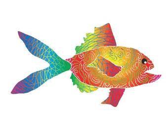 11x14 Rainbow Reef Fish Print