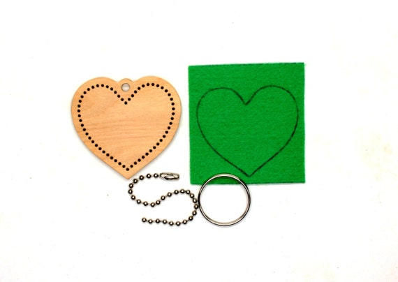 Valentine s embroidery diy kit heart homemade ornament