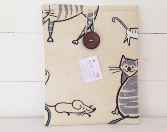 Cat and Mouse iPad Cover, Cat and Mouse iPad Sleeve, Cat and Mouse Tablet Cover, Tablet Sleeve