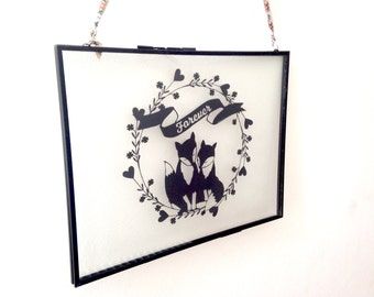 Forever Foxes Original papercut