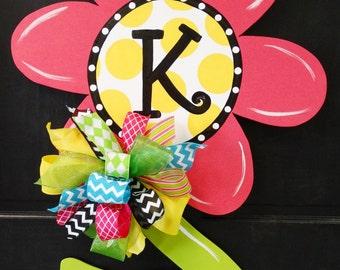 SHIPS NOW!!!!    Flower Door Hanger, Door Decoration, Spring and Summer Wreath