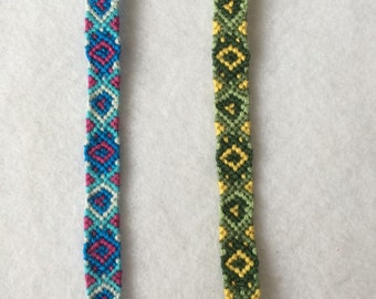 Brightly-Colored Diamond and Heart Friendship Bracelet