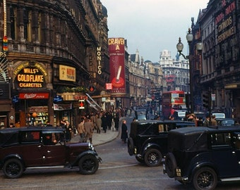 London 1940's from original 35mm Kodachrome slide