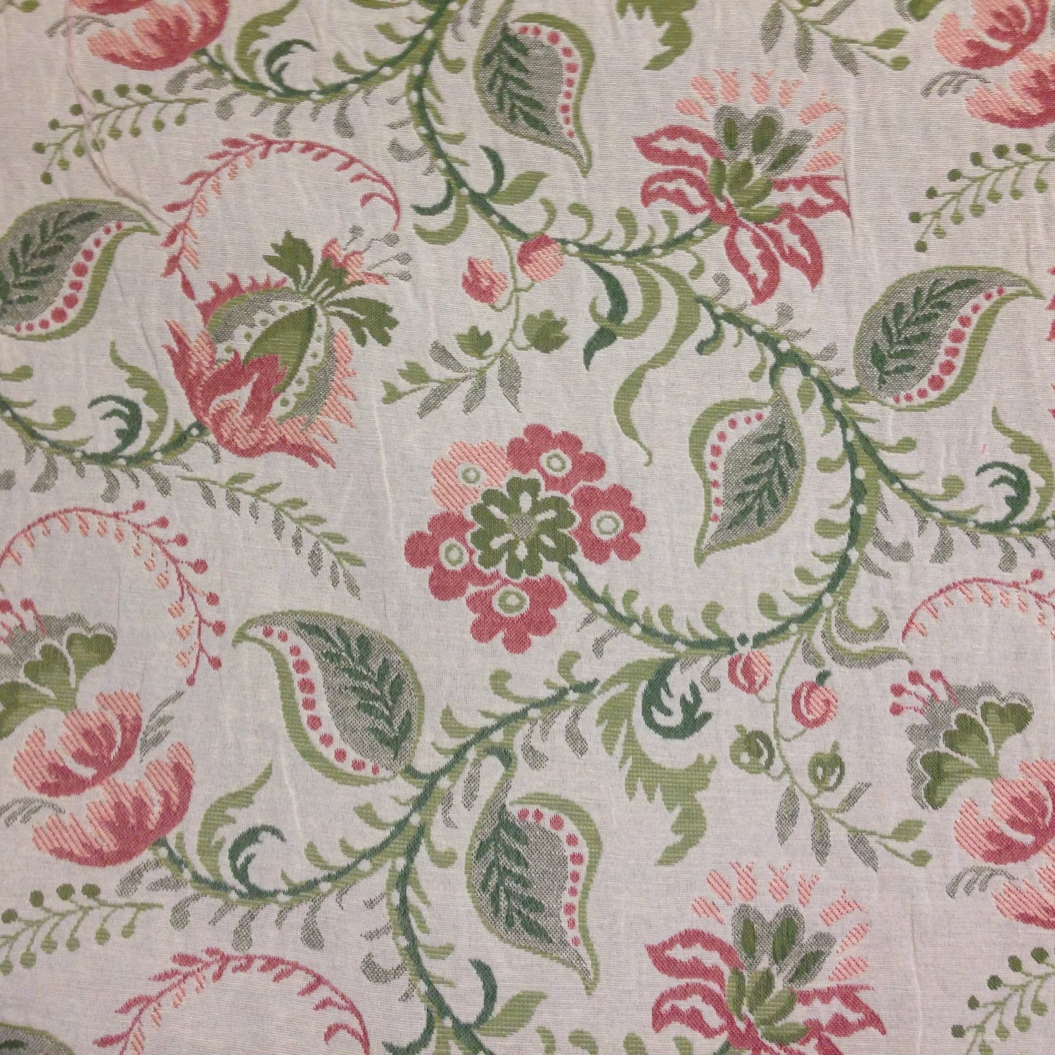 FABRIC SALE Jacobean Fabric Upholstery Fabric By The