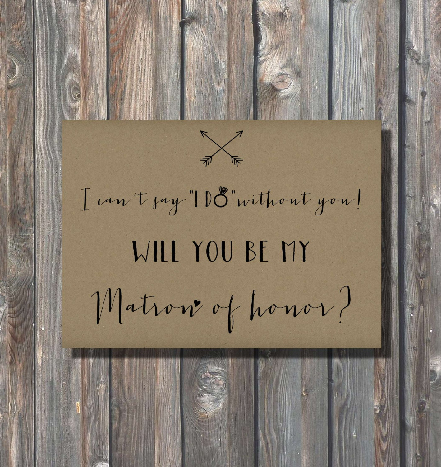 Printable Matron Of Honor Card Matron Of By HappyFiestaDesign