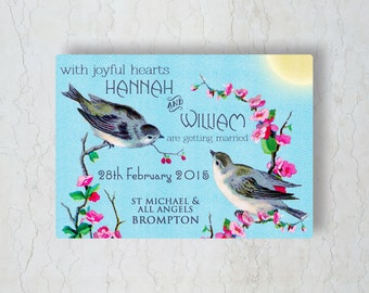 Vintage Birds Wedding Invitation