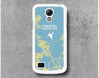 Case Samsung Galaxy S4 Mini with Asia Hummingbird Custom Name (Camille, Mathilde, Laura ...) + Free Delivery