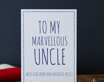 Marvellous Uncle card