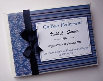 Personalised Navy Retirement/Wedding/Occassion Guest Book