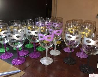 Custom  Designed Vinyl Wine Glasses