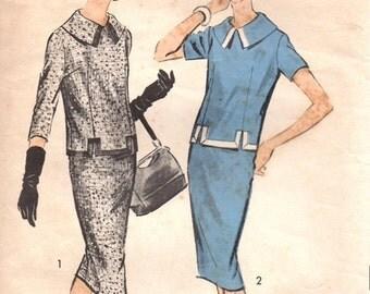 Advance 8795 Rich & Famous Two-Piece Dress / ca. 1958 / SZ12 Complete