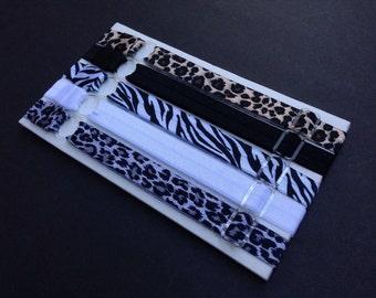Adjustable Headband Set - Animal Prints - Coordinating Elastic Headband Starter Set- 4 for the price of 5!!!