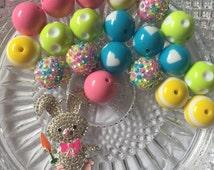 DIY Easter Bunny Rhinestone Pendant Kit- Do it yourself kit