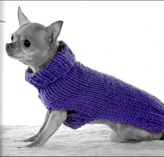 Dog Turtleneck Knitting Pattern : Knitting PDF pattern Dog basic turtleneck sweater knit