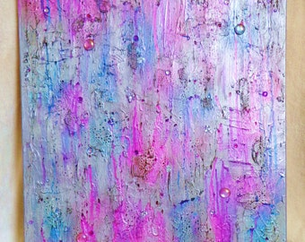 Textured Abstract Canvas Art 'Tears Don't Fall'
