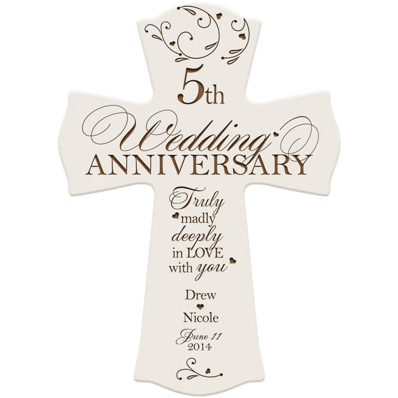 5th Year Wedding Anniversary Gifts For Him: Personalized 5th Anniversary Gift For Him5 By
