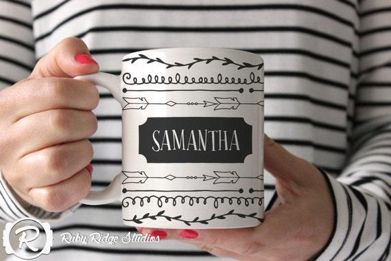 Personalised Name Coffee Mug, Tea Cup, Ceramic Mug, Custom Name Mug, Personalised Gift, Christmas Gift, Under 50