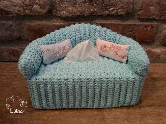 Free Crochet Pattern For Sofa Tissue Box Cover : Tissue box cover, crochet tissue box cover, vintage sofa ...