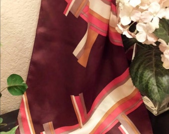Adrienne Vittadini silk scarf neckerchief classic traditional office wear gift for her