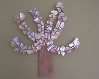 Tree mother of pearl mosaic