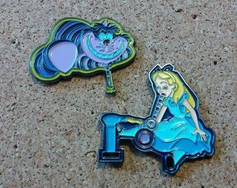 Dabbing in wonderland, Alice in wonderland pin  ***free shipping***