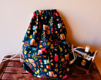 Handmade backpacks, kid luch bags, school bags, eco friendly bags, gym bags, cotton bags
