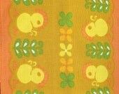 Cute vintage Easter Table runner with great retro pattern: chickens and flowers. Made in Sweden Scandinavian.