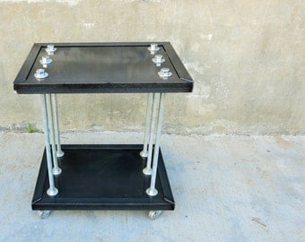 Raw Industrial Nightstand created in Los Angeles