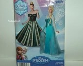 Brand New Uncut Simplicity S0746 Patterns Women Size 6-12 Disney Frozen Elsa Gown and Anna Coronation Dress Costume Cosplay - FREE Shipping