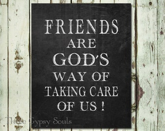 Religious Quotes About Friendship Simple Friendship Quote Etsy