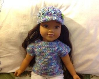 "Crocheted 18"" Doll T-Shirt"