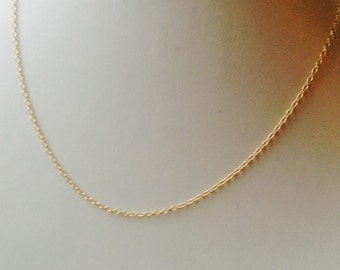 18 inch 14K Gold Filled Chain, gold filled necklace, gold necklace, gold filled, DIY, jewelry supply
