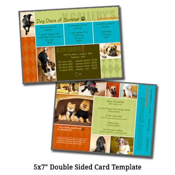 5x7 postcard mailing template - 5x7 pricelist card template dog days of summer