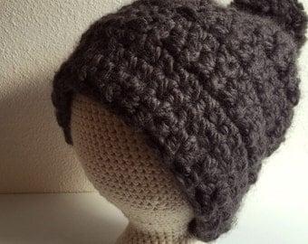 Crochet Bulky Beanie, Warm and Bulky Beanie, Slouchy Beanie