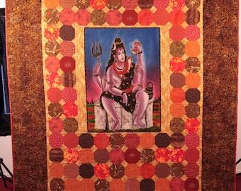 Om Namah Shivaya quilted wall hanging
