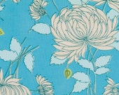Amy Butler Belle Limited Quantity - Chrysanthemum in Blue PWAB115BLUE 1 Yard, Large Floral