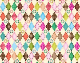SPX Fabrics Friendly Forest Diamonds (Half metre)
